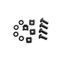 Set piulite Intellinet M6 (surub, bucsa, piulite) 4 unitati, negru