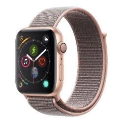 Smartwatch Apple Series 4 GPS, Aluminium 44mm, curea Nylon, Gold-Pink Sand