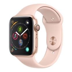 Smartwatch Apple Series 4 GPS, Aluminium 44mm, curea silicon, Gold-Pink Sand