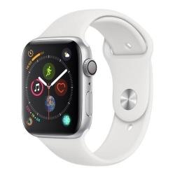 Smartwatch Apple Series 4 GPS, Aluminium 44mm, curea silicon, Silver-White