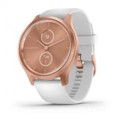 Smartwatch Garmin Vivomove Style, 1.2inch, Curea silicon, Rose Gold-White