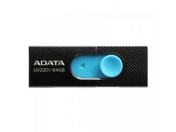 Stick Memorie AData UV220 64GB, USB 2.0, Black-Blue
