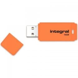 Stick memorie Integral Neon 16GB, USB 2.0, Orange