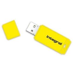 Stick memorie Integral Neon 16GB, USB 2.0, Yellow