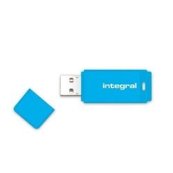 Stick memorie Integral Neon 32GB, USB 2.0, Blue