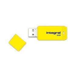 Stick memorie Integral Neon 32GB, USB 2.0, Yellow