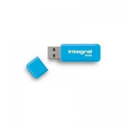 Stick memorie Integral Neon 8GB, USB 2.0, Blue