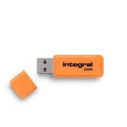 Stick memorie Integral Neon 8GB, USB 2.0, Orange