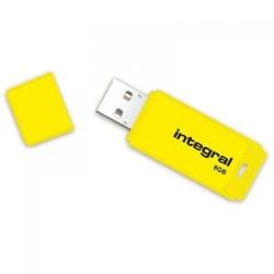 Stick memorie Integral Neon 8GB, USB 2.0, Yellow