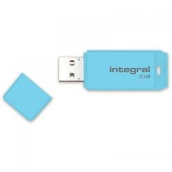 Stick memorie Integral Pastel 32GB, USB 2.0, Blue Sky
