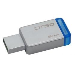 Stick Memorie Kingston DataTraveler 50 64GB, USB3.0, Metal/Blue