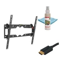 Suport perete Barkan CM310+.B, 29-65inch, 50kg, Black + Solutie curatare + Cablu HDMI