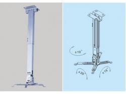 Suport proiector Beamerflex2 cu nivel variabil 650-1000mm BEAMERFLEX2-GY