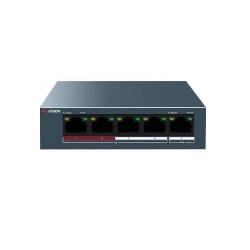 Switch Hikvision DS-3E0105P-E/M, 4 porturi, PoE