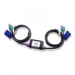 Switch KVM ATEN CS62A, 2xPort PS/2, 1.2m cables
