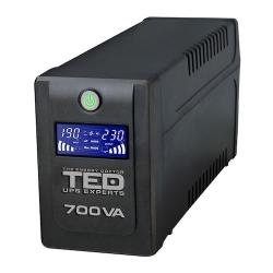 TED UPS Experts UPS 700VA LCD display Line interactive cu stabilizator 2 iesiri shuko TED UPS EXPERT, DZ088389