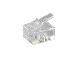 TEL MODU RJ11 6P4C/RJ11 FLAT PLUG ; Cod EAN: 4040849502507