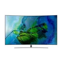 Televizor QLED Samsung Smart Curbat 55Q8CAM Seria Q8C, 55inch, Ultra HD 4K, Silver