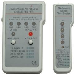 Tester cablu retea  INTELLINET, RJ11/RJ45, Gray, Retail Box