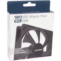 Ventilator Floston 12025 Black, 120mm