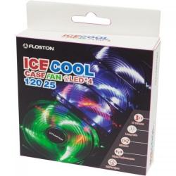 Ventilator Floston ICE4 Red LED, 120mm