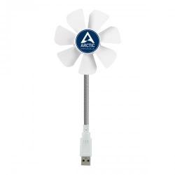 Ventilator pentru laptop Arctic Breeze Mobil, USB, White