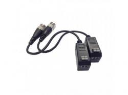 Video balun pasiv cu cablu Hikvision DS-1H18S/E, 2 bucati