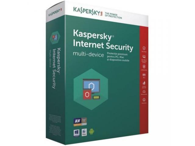 Kaspersky Internet Security 2018, 1 utilizator/1 an, Base Retail