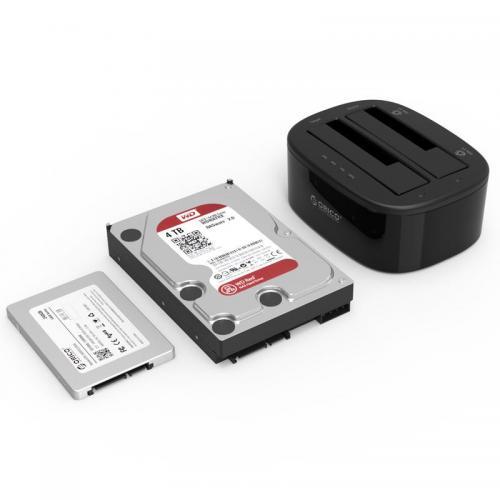 Orico 6228US3-C USB 3.0 Dual Bay HDD Docking Station Black